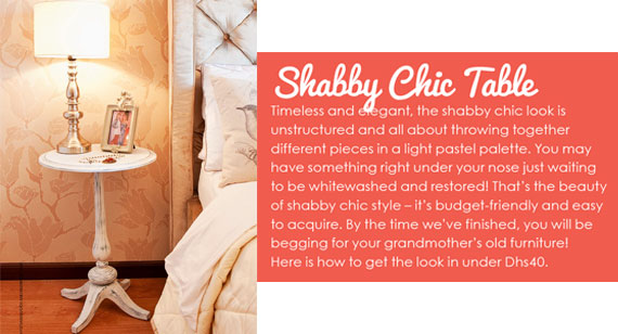 DIY Creations - Shaby Chic Table